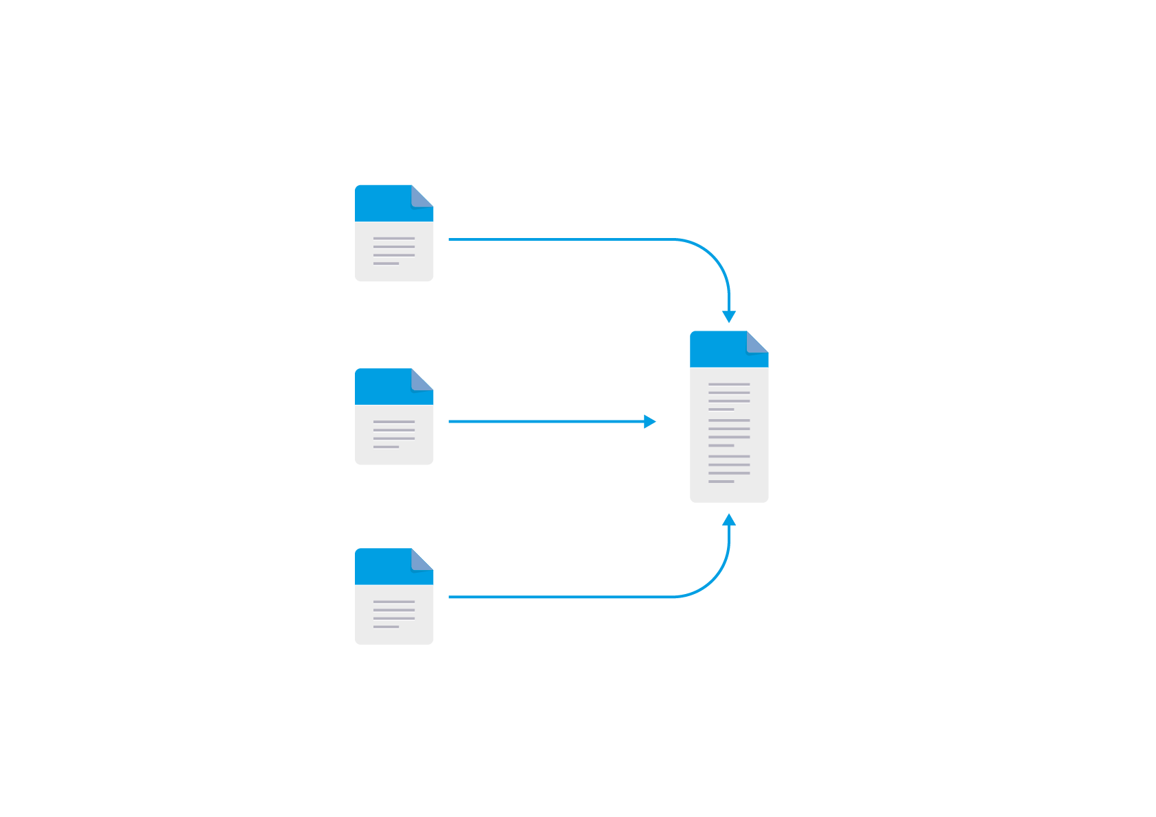 Backup and sync files for data aggregation -- transparent